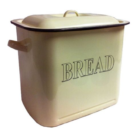 Falcon Cream Enamel Metal Rectangular Bread Bin